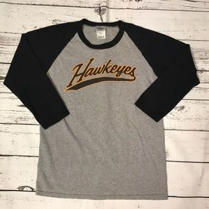 Delta Pro Weight 3/4 sleeve Hawkeye shirt